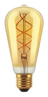 Foco Vintage Led Lampara Filamento Pera 2w = 40w Calido E27