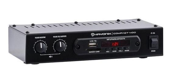Amplificador Hayonik Compact400 40w C/fm Usb Bt