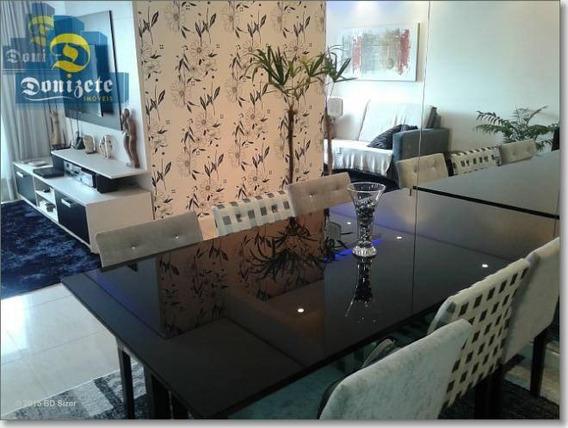 Apartamento Com 3 Dormitórios À Venda, 92 M² Por R$ 580.000,00 - Vila Assunção - Santo André/sp - Ap6291