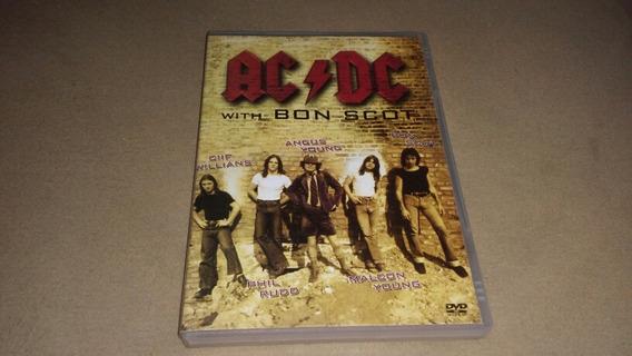 Dvd Acdc With Bon Scot Usado Original Bom Estado Frete 10.00