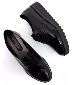 Tênis Sapato Oxford Verniz Feminino Beira Rio Tratorado