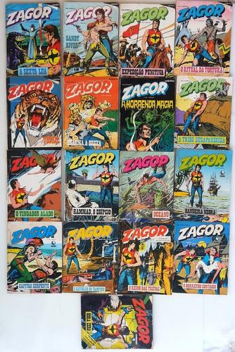 Zagor Quadrinhos 17 Gibis Ed. Rio Gráfica Antigo E Raro