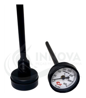 Termômetro Para Forno Iglu Lenha Haste Grande 20cm 350º