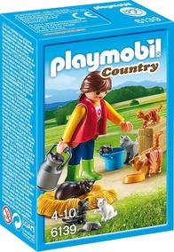 Playmobil 6139 Amiga Gatos Gatinhas Fazenda Orig Prod. Europ