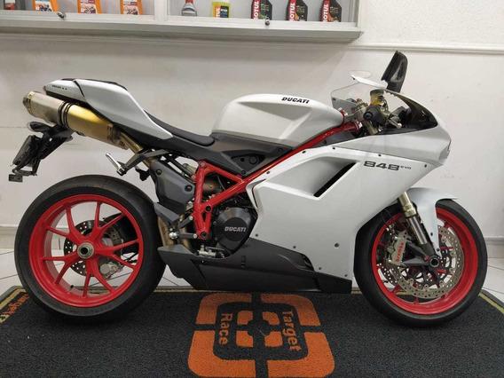 Ducati 848 Evo Branco 2011 - Target Race
