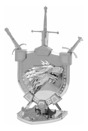 Rompecabezas Metálico 3d  Tronos: Estandarte Casa Stark