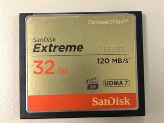 Cartao Sandisk Extreme 32gb Compact Flash Cf120mb/s Original