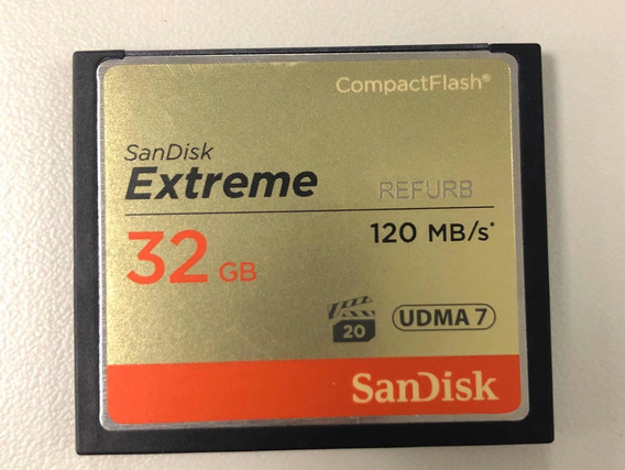 Cartao Sandisk Extreme 32gb Compact Flash Cf120mb/s Original