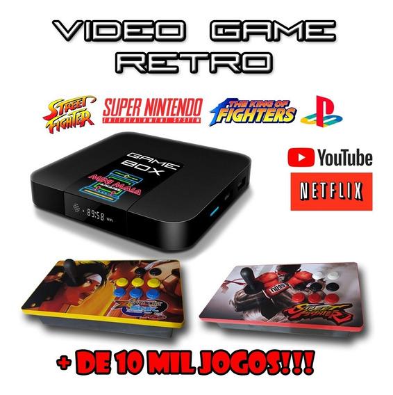 Vídeo Game Retro-box - 2 Controles Arcades Usb