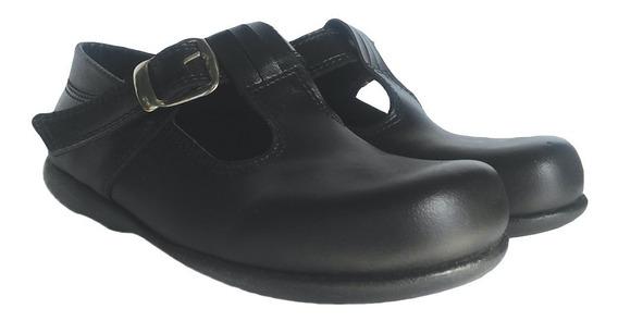 Zapato Escolar Niña Nena Cuero Hebilla Colegial Liquidacion