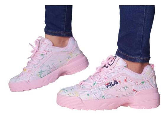 Calzado Zapatos Tenis Botas Fila Tractor Para Dama Mujer
