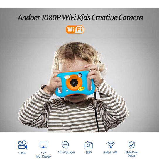Andoer Cde7 Wifi Crianças Câmera Criativa 5mp 1080 P Hd Digi