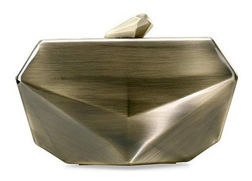 Cartera Fiesta Clutch Metal Dorado Oferta