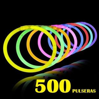 Set 500 Pulseras Luminosas Fluor