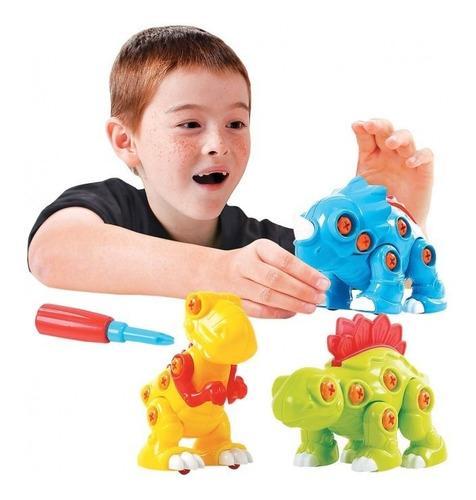 Set De Figuras De Dinosaurios Desarmables Para Niños Playgo