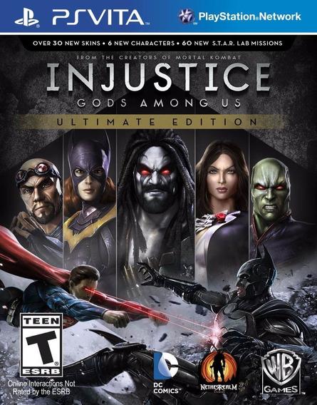 Injustice Gods Among Us Ultimate Edition - Ps Vita - Novo