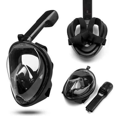 Mascara Mergulho Snorkeling Gopro Câmera De Ação Full Face