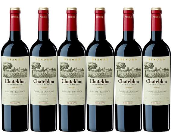 Vino Tinto Chateldon Cabernet Sauvignon Reserv Pinord 6 Pz F