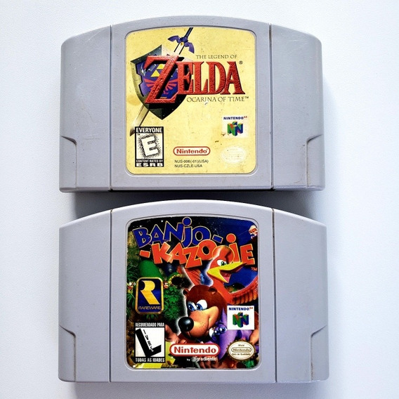 Zelda Ocarina Of Time + Banjo Kazooie Original N64 Nintendo