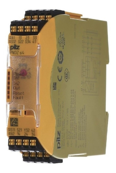 751104 Pilz Safety Relay Pnoz S4 C 24vdc 3n/o 1n/c Relevador
