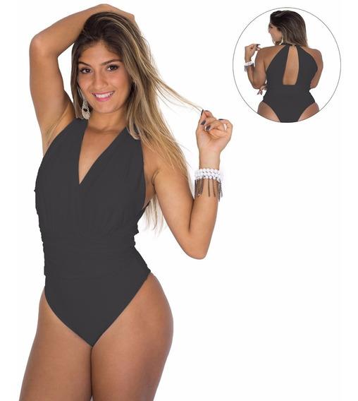 Camisa Feminina/ Body/ Maio/ Academia/ Decote Profundo
