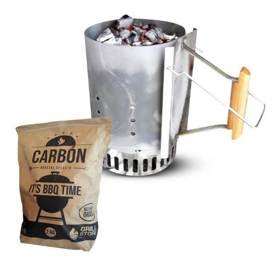 Mr. Grill - Encendedor De Carbón + Carbon 2kg