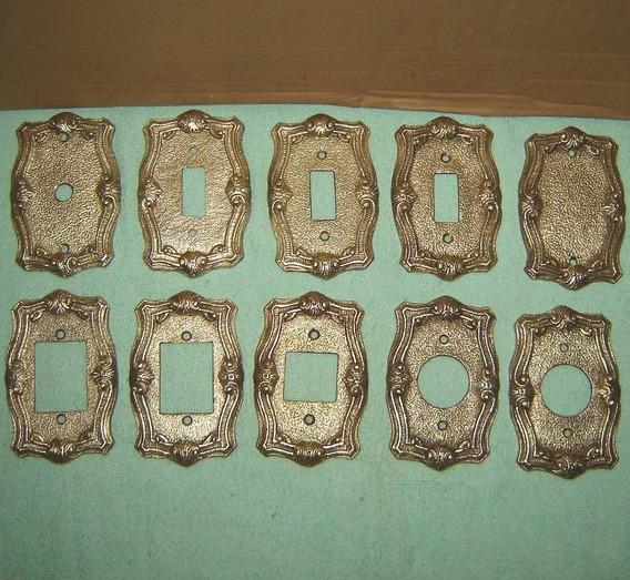 Espelho De Bronze Para Tomada Ou Interruptor Vários Modelo