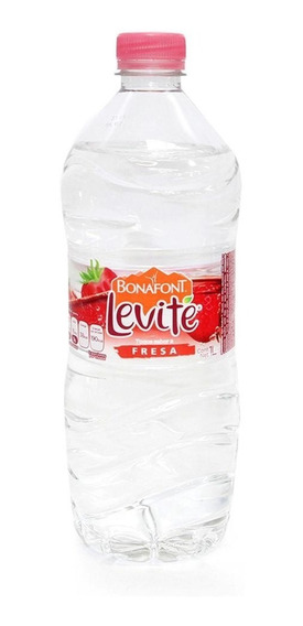 Levité Clásica Agua Saborizada Fresa Botella 1 Lt