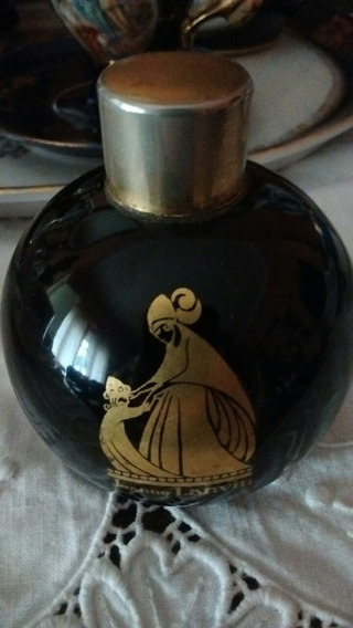 Antiguo Perfumero Jeanne Lanvin Cobalto Y Oro.