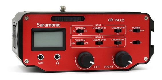 Mixer De Audio Para Camera - Pax2 - Saramonic Com Nf