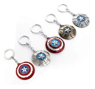 Llavero Metálico Escudo Capitán América Marvel Avengers