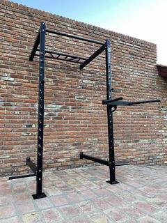 Medio Power Rack Con Accesorios Mb Fitness