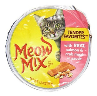 Meow Mix Cat Food, Market Select Real Salmon & Crabmeat,