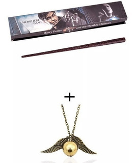 Harry Potter Varita 35 Cm + Collar Snitch