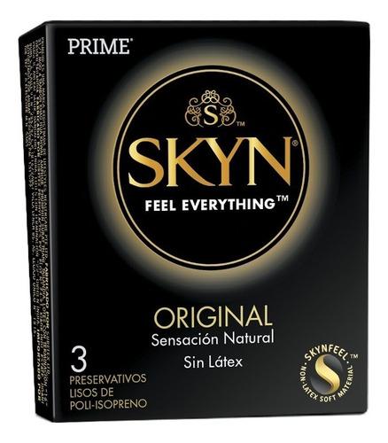 Preservativos Prime Skyn X3 Unidades Sin Latex Mayor Calor