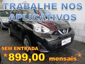 Nissan March 1.0 12v S 5p - Trabalhe Na Uber Sem Entrada