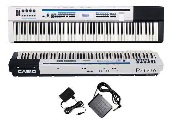 Piano Casio Privia Px5 We Stage 88 Teclas Branco Com Pedal