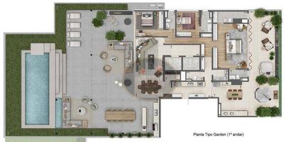 Apartamento Garden Com 3 Dormitórios À Venda, 585 M² - Jardim Paulista - São Paulo/sp - Gd0057
