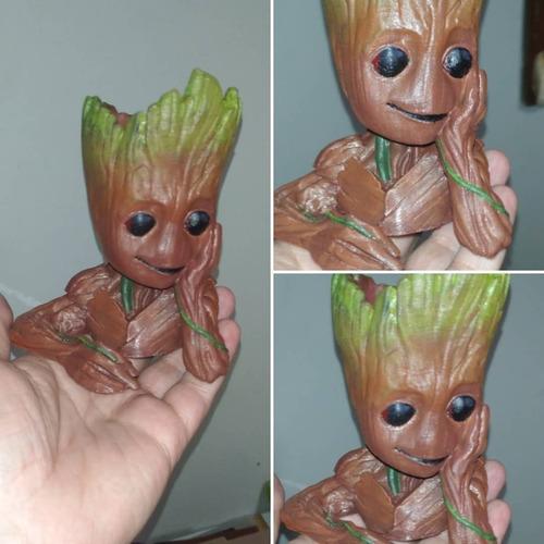 Mini Vaso Baby Groot Para Suculentas E Mini Cactos X2