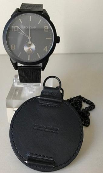Relógio Masculino Touch Preto Com Vidro De Safira