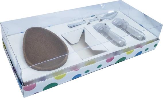 10 Pçs Caixa Kit Confeiteiro Ovo De Colher 150g Pascoa Bolin