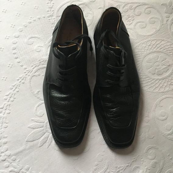 Sapato Crawford Shoes Social Preto Sola Emborrachada 41