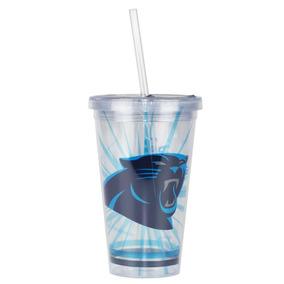 Copo C/ Canudo Carolina Panthers - Nfl