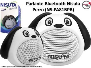 Parlante Portátil Bluetooth Nisuta Perro Blanco (ns-pa81bp)