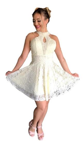 Vestido Curto Godê Renda De Festa De Casamento Ar77