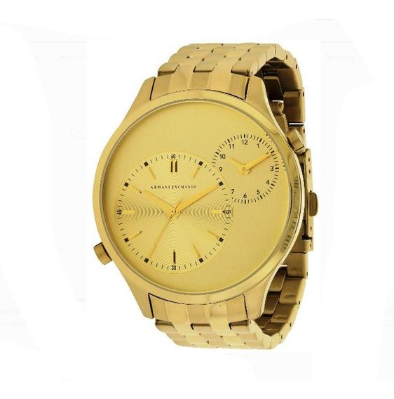 Relógio Armani Exchange Ax 2176 Banhado A Ouro 18k Original