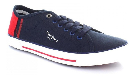 Tenis Para Hombre Pepe Jeans 8164-050446 Color Azul