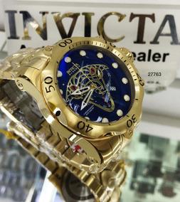 Relógio Invicta 27763 Venom Viper Azul B. Ouro 18k - Reserve
