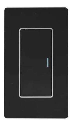 Imagen 1 de 3 de Interruptor Sencillo Negro Black Mirror De Lujo