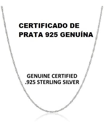 Promoção Corrente Prata 925 Unissex Fina 70 Cm